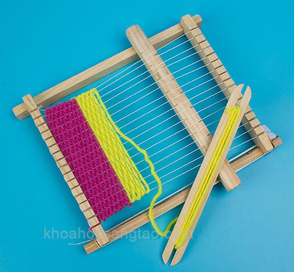 maydanlen 1 Máy đan len mini tự chế
