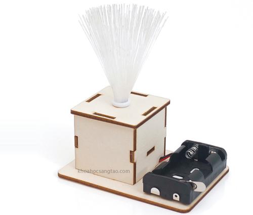 bolaprapdenchumgo 3 Bộ lắp ráp đèn chùm gỗ